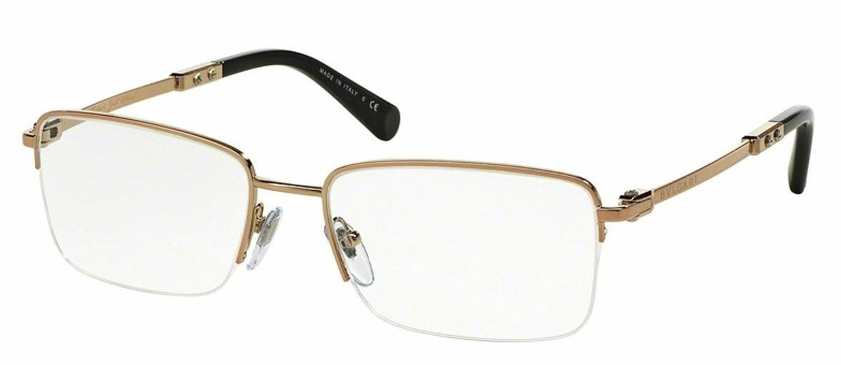 【新品】ブルガリ(BVLGARI) メガネフレーム ゴールド メンズ レジェンメ 商品番号BV1084K カラー番号395ピンクゴールド