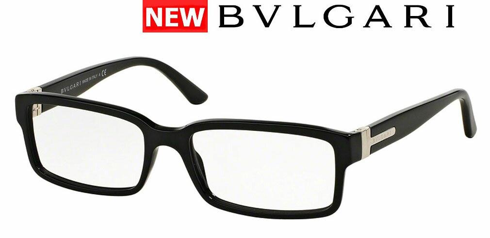 新品 ブルガリ メガネフレーム 高品質 イタリア製 品番BV3014-501 ブラック メンズ ギフト誕生日 おしゃれケース 伊達めがね 老眼鏡 レクタングルシェイプ