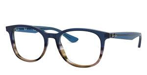 【新品】レイバン メガネ フレーム ブルー×グラデーション×クリア×グレー メンズ レディース スタンダード フィット 送料無料 誕生日 ギフト Rayban おしゃれ ブランド 海外 通販 クリエンテ