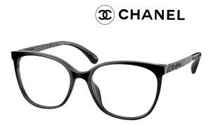 シャネル メガネ フレーム CHANEL 品番3410 C888 スクエア シェイプ オプティカル アセテート&メタル ブラック色 レディース メンズ 新作 取扱店 伊達メガネ 度付き 遠近 老眼鏡 カメリア マトラ