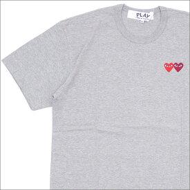 PLAY COMME des GARCONS プレイ コムデギャルソン 2HEART TEE Tシャツ GRAY 200007273062x【新品】 半袖Tシャツ