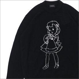 UNDERCOVER アンダーカバー BRAINWASH GIRL JACQUARD KNIT ニット BLACK 231000345531x【新品】 TOPS