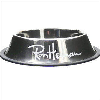 Ron Herman (LONDON HEARTS man) DOG BOWL M (dog bowl) SILVERxWHITE 290-004596-042x (goods)