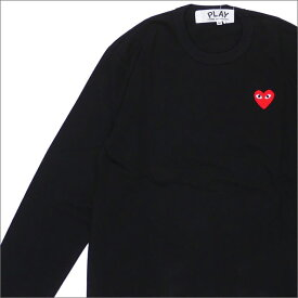 PLAY COMME des GARCONS プレイ コムデギャルソン MENS RED HEART L S TEE 長袖Tシャツ BLACK 200007741041x【新品】 TOPS