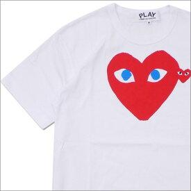 PLAY COMME des GARCONS プレイ コムデギャルソン MENS BLUE EYE HEART PRINT TEE Tシャツ WHITExRED 200007771040x【新品】 半袖Tシャツ