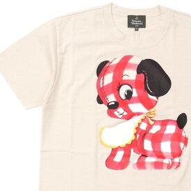 新品 ヴィヴィアン・ウエストウッド Vivienne Westwood ギンガムパピー リラックス Tシャツ WHITE ホワイト 白 メンズ 新作 半袖Tシャツ
