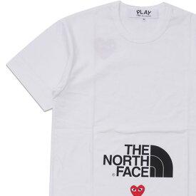 新品 プレイ コムデギャルソン PLAY COMME des GARCONS x THE NORTH FACE MENS The North Face x Play T-Shirt WHITE 新作 半袖Tシャツ