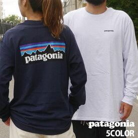 【14:00までのご注文で即日発送可能】新品 パタゴニア Patagonia M's L/S P-6 Logo Responsibili Tee P-6ロゴ レスポンシビリ 長袖Tシャツ 38518 REGULAR FIT レギュラーフィット メンズ レディース 新作 TOPS