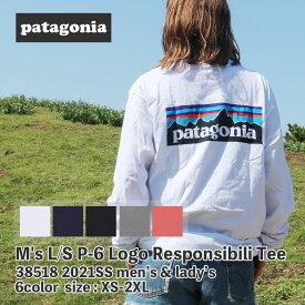 新品 パタゴニア Patagonia 21SS M's L/S P-6 Logo Responsibili Tee ロングスリーブ P-6ロゴ レスポンシビリ 長袖Tシャツ 38518 メンズ レディース 2021SS 新作 TOPS