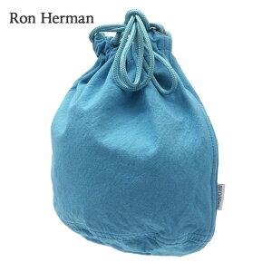 新品 ロンハーマン Ron Herman Drawstring Pouch ドローストリング ポーチ 巾着 BLUE ブルー 青 メンズ レディース 新作 グッズ 39ショップ