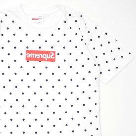 シュプリーム Supreme x コムデギャルソン シャツ COMME des GARCONS SHIRT Box Logo Tee ボックスロゴ Tシャツ WHITE ホワイト メンズ Lサイズ 104002226050 【中古】 (半袖Tシャツ)