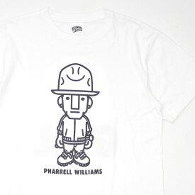 ビリオネアボーイズクラブ BILLIONAIRE BOYS CLUB PHARRELL WILLIAMS GIRL TEE ファレル・ウィリアムス Tシャツ WHITE ホワイト 白 メンズ Lサイズ 【中古】 334000550050 (半袖Tシャツ)