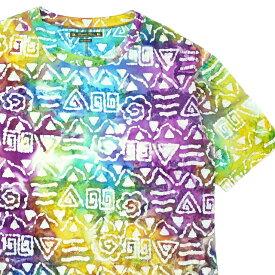 サスクワァッチ ファブリックス SASQUATCHfabrix. PRIMITIVE H/S SMOCK カットソー TIEDYE タイダイ メンズ Lサイズ 【中古】 101000520059 (半袖Tシャツ)