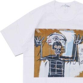 コムデギャルソン シャツ COMME des GARCONS SHIRT BASQUIAT TEE Tシャツ WHITExBROWN 200007983040 【新品】
