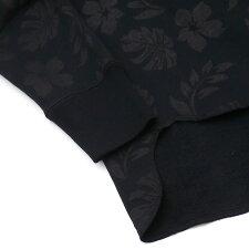 RonHerman(ロンハーマン)xHealthknit(ヘルスニット)FlowerPrintPullParka(パーカー)BLACK211-000587-051x【新品】