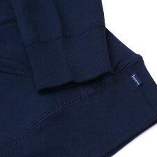 SUPREME(シュプリーム)PerforatedLeatherHoodedSweatshirt(スウェットパーカー)NAVY418-000417-047+【新品】