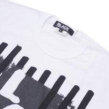 BLACKCOMMEdesGARCONS(ブラックコムデギャルソン)BLACKENGRAVINGL/STEE(長袖Tシャツ)WHITE202-000990-050x【新品】
