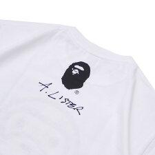 エイプABATHINGAPE18AWBABYMILOBYADAMLISTERTEETシャツWHITEホワイト白メンズ【新品】2018AW200008024240