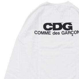 シーディージー CDG コムデギャルソン COMME des GARCONS LOGO CREW NECK SWEATSHIRT スウェット WHITE ホワイト 白 メンズ 【新品】 209000530060