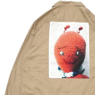 973665d8e77a シュプリーム SUPREME Mike Kelley Ahh Youth Work Shirt work long sleeves shirt  KHAKI khaki men 418000441065