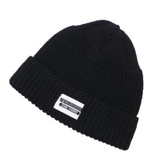 Ney bar Hood NEIGHBORHOOD 18AW MIL JEEP W CAP knit cap beanie BLACK black  black men 2018AW 182FUOT HT01 253000473011 f5a71aa8624d