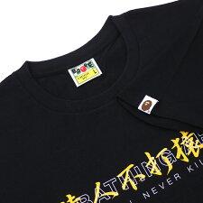 エイプABATHINGAPE19SSKANJILOGOASNKATEETシャツBLACKブラック黒メンズ【新品】1F30110077200008108051