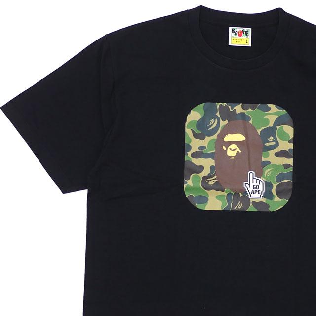 エイプ A BATHING APE 19SS BAPE ONLINE ABC TEE Tシャツ BLACK ブラック 黒 メンズ 【新品】 1F25110045 200008111051