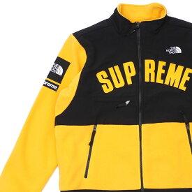 新品 シュプリーム SUPREME x ザ ノースフェイス THE NORTH FACE Arc Logo Denali Fleece Jacket デナリ フリース ジャケット YELLOW 228000166158