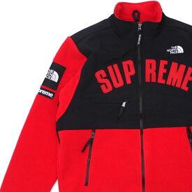 新品 シュプリーム SUPREME x ザ ノースフェイス THE NORTH FACE Arc Logo Denali Fleece Jacket デナリ フリース ジャケット RED 228000166143