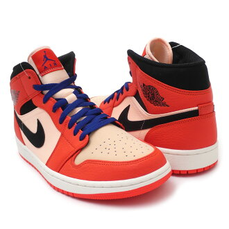 bfae9a160324 New Nike NIKE AIR JORDAN 1 MID SE Air Jordan 1 mid TEAM ORANGE BLACK-CRIMSON  TINT men 852