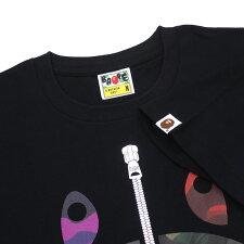 新品エイプABATHINGAPE19SSMIXCAMOSHARKTEETシャツBLACKブラック黒メンズ新作2019SS1F30110043