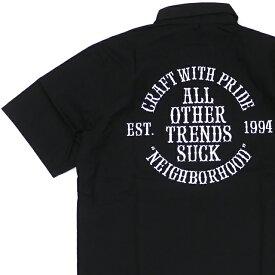 新品 ネイバーフッド NEIGHBORHOOD CLASSIC WORK/C-SHIRT.SS 半袖シャツ BLACK ブラック 黒 メンズ 181PCNH-LT04
