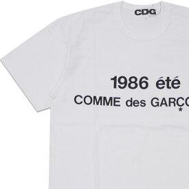 新品 コムデギャルソン CDG COMME des GARCONS STAFF COAT PRINT TEE Tシャツ WHITE ホワイト 白 メンズ 新作