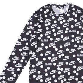 新品 ブラック コムデギャルソン BLACK COMME des GARCONS x ナイキ NIKE LOGO DOT L/S TEE 長袖Tシャツ BLACK ブラック 黒 メンズ