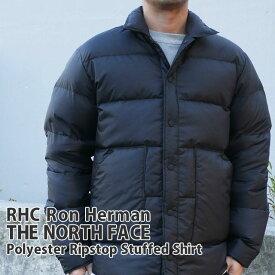 【14:00までのご注文で即日発送可能】 [販売数激少!!] 新品 ロンハーマン RHC Ron Herman x ザ・ノースフェイス パープルレーベル THE NORTH FACE PURPLE LABEL Polyester Ripstop Stuffed Shirt ダウンジャケット BLACK ブラック 黒 新作 ND2971N