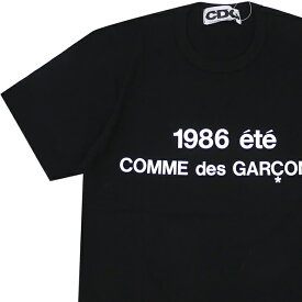 新品 コムデギャルソン CDG COMME des GARCONS STAFF COAT PRINT TEE Tシャツ BLACK ブラック 黒 メンズ 新作