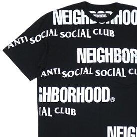 新品 ネイバーフッド NEIGHBORHOOD x アンチソーシャルソーシャルクラブ Anti Social Social Club 19AW ASSC/C-CREW.SS Tシャツ BLACK ブラック メンズ 2019AW 新作 192MBASN-CSM02S