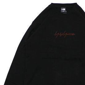 新品 ヨウジヤマモト Yohji Yamamoto x ニューエラ NEW ERA 19FW L/S Cotton Tee 長袖Tシャツ BLACKxBROWN メンズ レディース 2019FW 新作