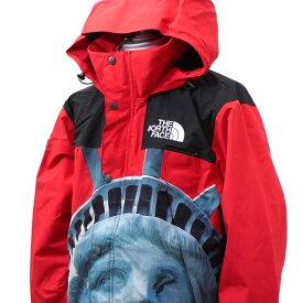【14:00までのご注文で即日発送可能】 新品 シュプリーム SUPREME x ザ ノースフェイス THE NORTH FACE 19FW Statue of Liberty Mountain Jacket マウンテン ジャケット RED レッド 赤 メンズ 2019FW 19AW 2019AW 新作