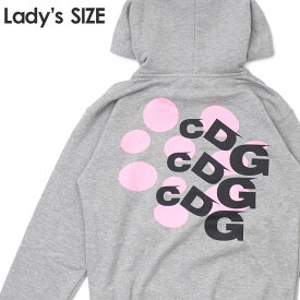 新品 コムデギャルソン COMME des GARCONS GIRL PINK DOT LOGO PARKA パーカー GRAY グレー 灰色 レディース 新作