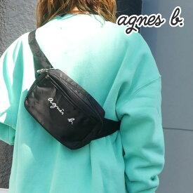 新品 アニエスベー アンファン agnes b. ENFANT BANANE ロゴ刺繍 ボディバッグ BLACK ブラック 黒 レディース 新作