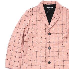 新品 シュプリーム SUPREME 19FW Wool Windowpane Overcoat コート LIGHT PINK ピンク メンズ 2019FW 19AW 2019AW 新作
