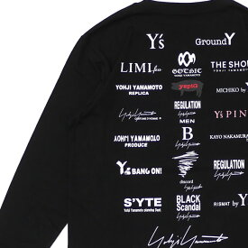 新品 ヨウジヤマモト Yohji Yamamoto x ニューエラ NEW ERA 20SS L/S Cotton Tee 長袖Tシャツ BLACK ブラック 黒 メンズ 2020SS 新作