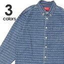 新品 シュプリーム SUPREME 20SS Jacquard Logos Denim Shirt デニム 長袖シャツ メンズ 2020SS 新作