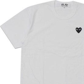 新品 プレイ コムデギャルソン PLAY COMME des GARCONS MENS BLACK HEART WAPPEN TEE TシャツWHITE ホワイト 白 メンズ 新作