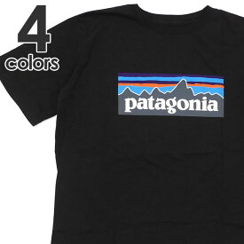 新品 パタゴニア Patagonia Boys' P-6 Logo Organic Cotton T-Shirt ロゴ オーガニック Tシャツ 62153 ボーイズ レディース 新作