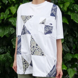 新品 ザ・ノースフェイス パープルレーベル THE NORTH FACE PURPLE LABEL Patchwork H/S Tee パッチワーク Tシャツ OW(OFF WHITE) 新作 NT3020N