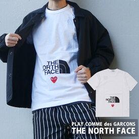 新品 プレイ コムデギャルソン PLAY COMME des GARCONS x ザ・ノースフェイス THE NORTH FACE MENS The North Face x Play T-Shirt Tシャツ WHITE 新作