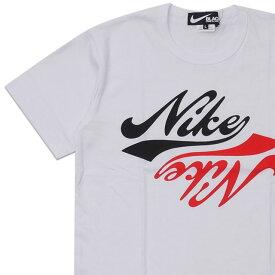 新品 ブラック コムデギャルソン BLACK COMME des GARCONS x ナイキ NIKE INVERSION LOGO TEE Tシャツ WHITE ホワイト 白 メンズ 新作