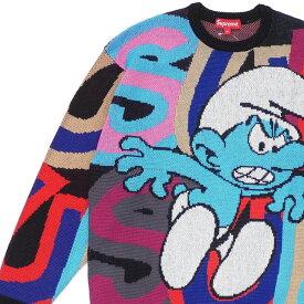 新品 シュプリーム SUPREME 20FW Smurfs Sweater ニット セーター BLACK ブラック 黒 メンズ 2020FW 2020AW 20AW 新作